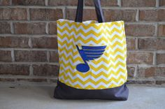 Hey, I found this really awesome Etsy listing at https://www.etsy.com/listing/166163960/st-louis-blues-chevron-tote