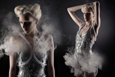 Technology Meets Fashion When Look Solutions' TINY CX Fog Generator Triggers Designer Anouk Wipprecht's Smoke Dress Lover Dress, Wearable Technology, Fashion Technology, Future Fashion, Mannequins, Looking Gorgeous, Fashion Pictures, Festival Fashion, Editorial Fashion