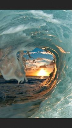 I love the curl of an ocean wave!