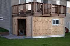 Panofish Blog » Building a Shed under a Deck