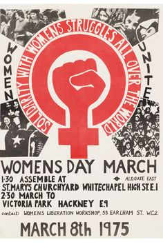 Women's Day March, March 1975 Photo 1
