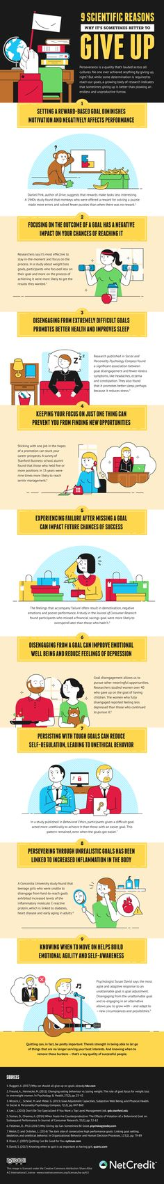 9 Scientific Reasons Why It's Sometimes Better to Give Up - #infographic / Digital Information World
