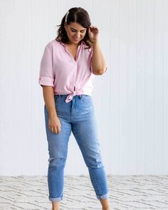 Clothes Women, Fashion Clothes, Fashion Outfits, Buy Clothes Online, Jason Grace, Pink Gingham, Business Casual Outfits, Fashion 101, Pretty Clothes