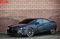 Dodge Charger Gets Matte Black Wrap and Vossen Wheels - Photo Gallery