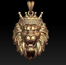 lion necklace with crown print model cad corona, available formats STL, ready for animation and other projects Jewelry Model, Cute Jewelry, Animal Sculptures, Sculpture Art, Lion King Art, Colour Architecture, Lion Necklace, Mens Silver Rings, Sacred Art