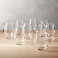 Shop set of 8 true stemless wine glasses. Stemless new vintage is handmade with the best of them. Reds, whites, and any drink in between. Unique Wine Glasses, White Wine Glasses, Kitchenware, Tableware, Stemless Wine Glasses, Wine Carafe, Wine Bottle Crafts, Bottle Art, Life Planner