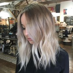 Ash Blonde Balayage for Medium Hair
