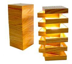 Lampe en bois modulable Cubix