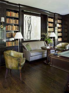 Billiards and Bookshelves | Robert Brown Interior Design | Atlanta