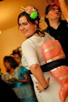 Sushi Costume - I love the headpiece that is wasabi & pickled ginger.  :P
