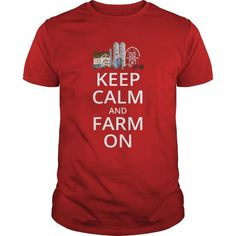 Keep Calm And Farm On T Shirts, Hoodies. Get it now ==► https://www.sunfrog.com/Jobs/Keep-Calm-And-Farm-On-Red-Guys.html?57074 $19