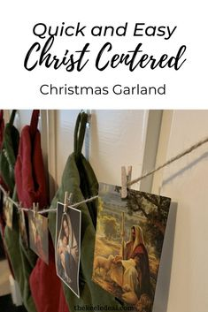 Quick and Easy Christ Centered Christmas Garland First Christmas, Christmas Crafts, Christmas Decorations, Life Of Christ, Garland, My Favorite Things, Easy, How To Make, Home Decor