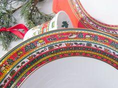Weihnachtsdeko - Teller z Weihnachtsservice Merry Christmas Ahorn - ein Designerstück von artdecoundso bei DaWanda
