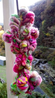 Art Yarn granny stacks Happy spinning*モリノマキモノ Ruru Mori