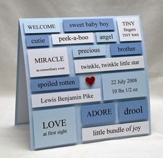 custom baby card or announcement by handmade by amy, via Flickr