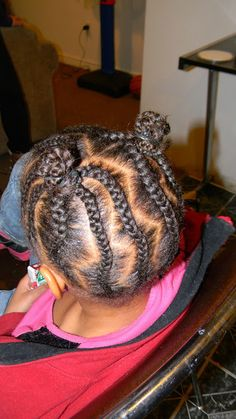 Xavier & Alice Anne: braids...so cute