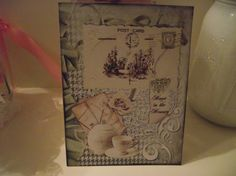 Note cards Vintage   Distress Style  Postcard Tea Cups by mslizz, $4.74