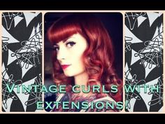 ▶ How to get vintage pinup curls with long hair or extensions! by CHERRY DOLLFACE - YouTube