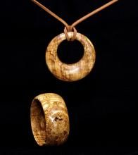 Beautiful wood turned jewelry.