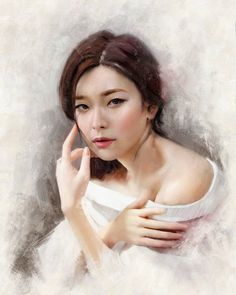 Justine Florentino is a great digital artist. Her specialization is a digital painting portrait girl. Fantasy Images, Art Images, Female Portrait, Portrait Art, Filipino, Face Drawing Reference, Amazing Paintings, Fashion Wall Art, Portrait Illustration