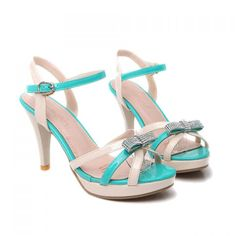 Fashionable Color Block and Bowknot Design Sandals For Women, BLUE, 39 in Sandals | DressLily.com