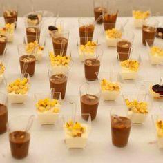 Dessert: mini cheesecake, mousse al cioccolato bianco e gianduia. I matrimoni La Divina Commedia