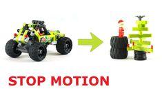 Św. Mikołaj Lego buduje choinkę z rozbitego samochodu 42027