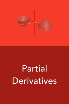 Partial derivatives are so called because they're the derivatives of multivariable functions. When a function is defined in terms of two or more variables, the function's derivative is actually a collection of partial derivative equations.