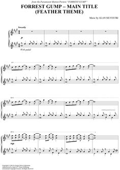Forrest Gump - Main Title (Feather Theme) Sheet Music: www.onlinesheetmusic.com