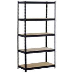 Heavy Duty Steel 5-shelf Shelving Kit Unit Metal Garage Storage Shelves System