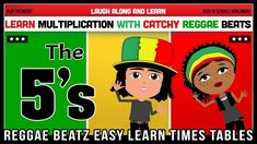 5 Times Table Song (Reggae Beatz) Learn to Fun & Catchy Songs! 5 Times Table, Multiplication, Reggae, How To Memorize Things, Tables, Songs, Learning, Fun, Mesas