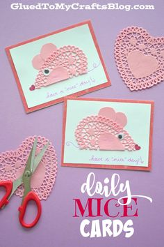 Have a MICE Day - Doily Mice Cards