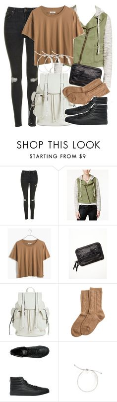 """Malia Inspired Outfit with Black High Top Vans"" by veterization ❤ liked on Polyvore featuring Topshop, Tinseltown, Madewell, Free People, Mossimo, Bamford, Vans and Warehouse"