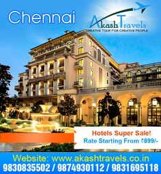 Best Hotel Deals, Best Hotels, Creative People, Chennai, Tours, Mansions, House Styles, Phone, Telephone