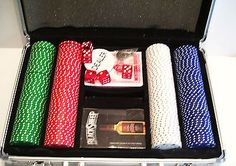 200 Poker Chip Set in Case with Playing Cards - Canada Life
