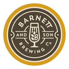 Barnett and Son Brewing Co. logo designed by Sunday Lounge.