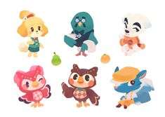 Crossing Villager Sticker Sheets made by ieafy -Animal Crossing Villager Sticker Sheets made by ieafy - Animal Crossing Pattern - Peach Tiny Shibas AC Sticker Sheet Villagers! Stickers of the cute characters from Animal Crossing! Animal Crossing Fan Art, Animal Crossing Memes, Animal Crossing Villagers, Animal Crossing Pocket Camp, Character Design Challenge, Character Design Sketches, Pokemon, Pikachu, Fantasy Character