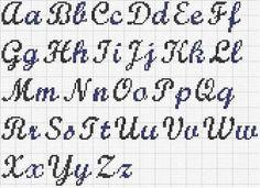 Resultado de imagem para cross stitch letters