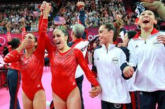 Great moment for USA Olympic Gymnastic Team.