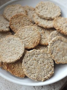 Good Food, Low Carb, Snacks, Cookies, Paleo, Recipes, Kitchen, Diets, Crack Crackers