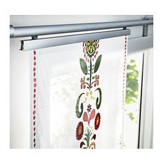IKEA - ÅKERKULLA, Panel curtain, A panel curtain is ideal to use in a layered window solution, to divide rooms or to cover open storage solutions.The panel curtain is machine washable.You can also use it as a table runner.