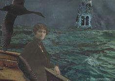 """""""Und die Seele unbewacht, will in freien Flügen schweben,  um im Zauberkreis der Nacht, tief und tausendfach zu leben."""" -Hermann Hesse. Handmade collage by papiertänzerin,"""