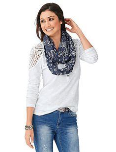 Rundhalsshirt mint im Heine Online-Shop kaufen