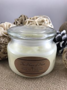 A personal favorite from my Etsy shop https://www.etsy.com/listing/593119748/white-tea-sage-leaf-medium-soy-candle