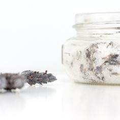 All natural easy lavender mint softening bath soak is a great gift for a friend or yourself! Made from items in your kitchen!