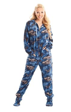 Dont you want a pair? Must-Own STAR WARS Adult Footed Pajamas