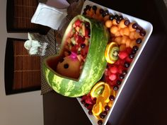 Baby fruit carriage. Baby Fruit, Home Food, Watermelon, Creative