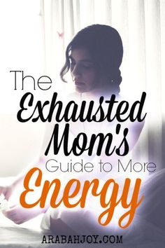 Check out this 7 day guide to increase your energy~ perfect for exhausted moms!
