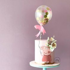 Fondanttorte - handsome Peppa Pig can be a English toddler super-hero tv set collection Tortas Peppa Pig, Bolo Da Peppa Pig, Peppa Pig Birthday Cake, Birthday Cake Girls, 2nd Birthday Parties, Peppa Pig Cakes, Birthday Cake Decorating, Birthday Party Decorations, Bolo Nacked