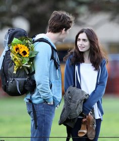 Love, Rosie Fans: Lily Collins and Sam Claflin Rehearse on the Set of Love, Rosie